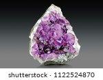 violet crystal stone macro...   Shutterstock . vector #1122524870