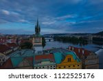charles bridge  karluv most ... | Shutterstock . vector #1122525176