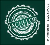 bachelor chalkboard emblem on... | Shutterstock .eps vector #1122529733