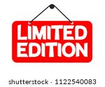 limited edition  tag design... | Shutterstock .eps vector #1122540083