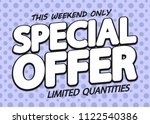 special offer  sale poster...   Shutterstock .eps vector #1122540386