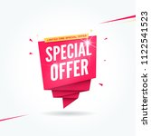 special offer commercial tag | Shutterstock .eps vector #1122541523