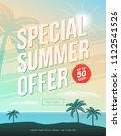 special summer offer 50  off... | Shutterstock .eps vector #1122541526