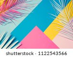 tropical bright colorful... | Shutterstock . vector #1122543566