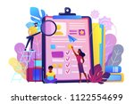 hr managers looking at... | Shutterstock .eps vector #1122554699