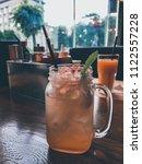 fresh delicious lemonade in the ... | Shutterstock . vector #1122557228