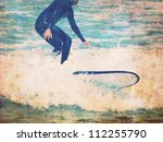 Vintage Surf Background With...