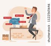 teen businessman happy smiling... | Shutterstock .eps vector #1122565646