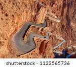 mountain pass in dades gorges   ... | Shutterstock . vector #1122565736