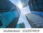 modern office building in urban | Shutterstock . vector #1122574919