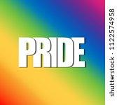 pride   lgbt pride slogan... | Shutterstock .eps vector #1122574958