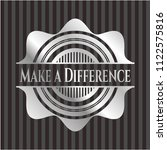 make a difference silvery shiny ... | Shutterstock .eps vector #1122575816