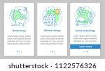 ecology onboarding mobile app... | Shutterstock .eps vector #1122576326