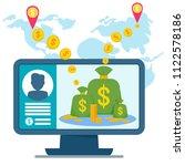 electronic money concept.... | Shutterstock . vector #1122578186