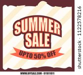 summer sale upto fifty percent... | Shutterstock .eps vector #1122578216