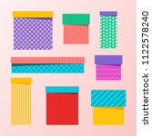 set of multicolored  colourful... | Shutterstock . vector #1122578240