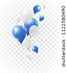 blue and white helium balloons... | Shutterstock .eps vector #1122580490