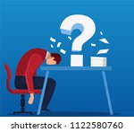 businessman troubled by problems | Shutterstock .eps vector #1122580760