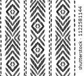 tribal seamless pattern. black... | Shutterstock .eps vector #1122581144