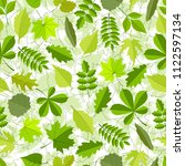 green leaves seamless pattern.... | Shutterstock . vector #1122597134