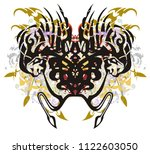 tribal unusual spider with...   Shutterstock .eps vector #1122603050