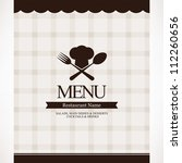 restaurant menu design | Shutterstock .eps vector #112260656
