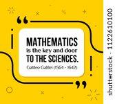 vector quote. mathematics is... | Shutterstock .eps vector #1122610100