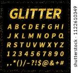 uppercase italic display font...   Shutterstock . vector #1122610349