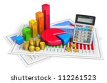 financial business  analytics ... | Shutterstock . vector #112261523