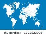 world map vector | Shutterstock .eps vector #1122623003