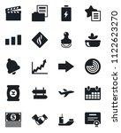 set of vector isolated black... | Shutterstock .eps vector #1122623270
