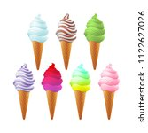 set of different various tasty... | Shutterstock .eps vector #1122627026