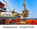 offshore construction platform... | Shutterstock . vector #1122627140