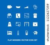 modern  simple vector icon set... | Shutterstock .eps vector #1122627359
