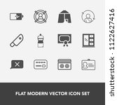 modern  simple vector icon set... | Shutterstock .eps vector #1122627416