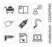 premium outline  fill icons set ... | Shutterstock .eps vector #1122629360