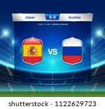 spain vs russia scoreboard...   Shutterstock .eps vector #1122629723