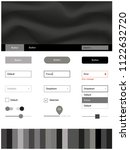light gray vector ui kit with...