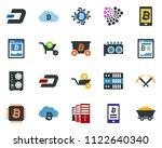 colored vector icon set   dash... | Shutterstock .eps vector #1122640340