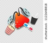 online cinema film concept on... | Shutterstock .eps vector #1122648818