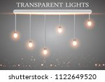 realistic glowing light bulb... | Shutterstock .eps vector #1122649520