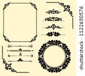set of vintage elements. frames ... | Shutterstock . vector #1122650576