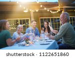 summer barbecue party with... | Shutterstock . vector #1122651860