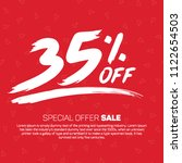 35 percent off  sale special... | Shutterstock .eps vector #1122654503