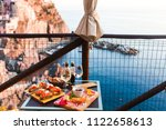 romantic dinner for two at... | Shutterstock . vector #1122658613