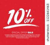 10 percent off  special offer... | Shutterstock .eps vector #1122661463