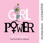 girl power concept   vector...   Shutterstock .eps vector #1122663950