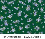 pretty vintage feedsack pattern ... | Shutterstock .eps vector #1122664856