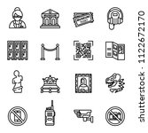museum icons set with white... | Shutterstock .eps vector #1122672170