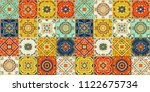 talavera pattern.  indian... | Shutterstock .eps vector #1122675734